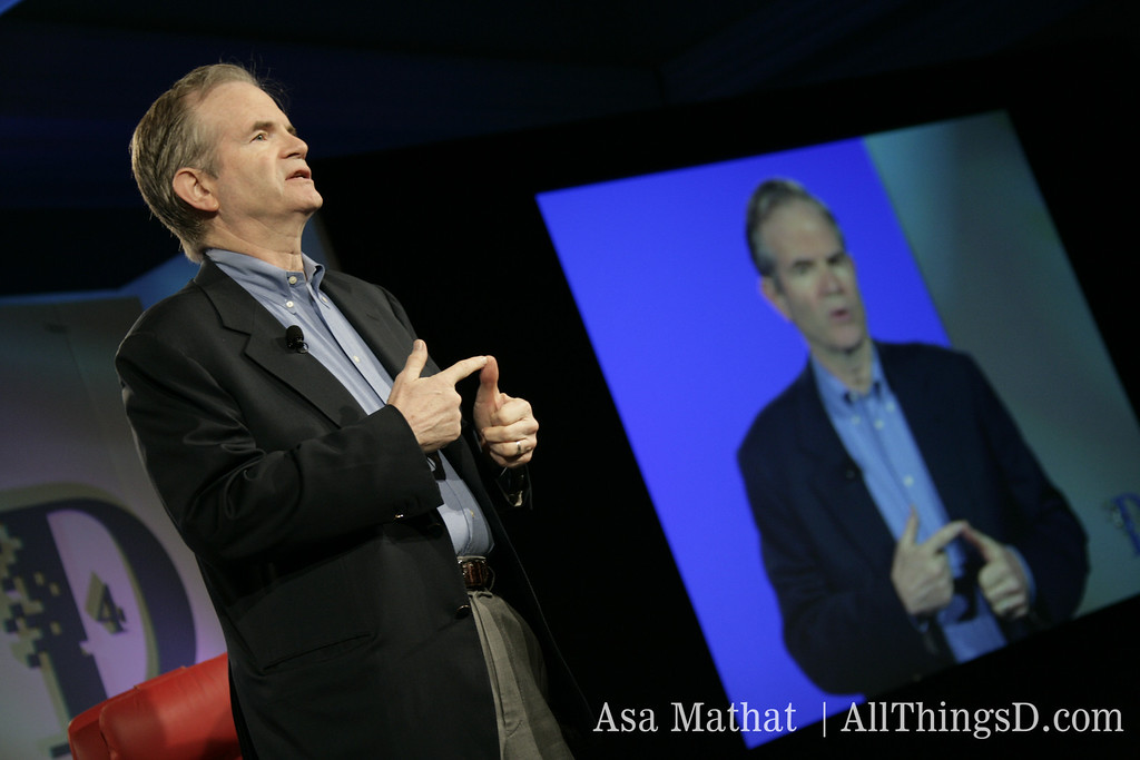 The WSJ's Paul Steiger onstage at D4 in 2006.
