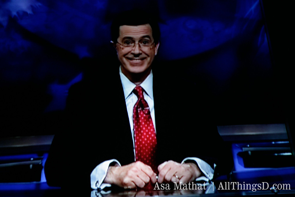 Stephen Colbert introduces Philippe Dauman at D5.