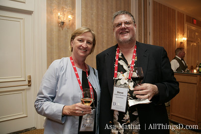 Silicon Valley veteran Betty Taylor with Steve Wildstrom from Business Week at the D5 Opening Reception.