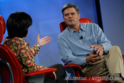 Talking 'bout a Revolution: Kara Swisher and Steve Case.