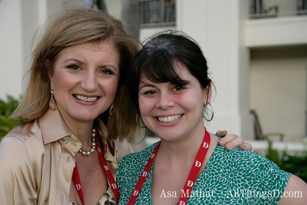 Arianna Huffington and Mena Trott.