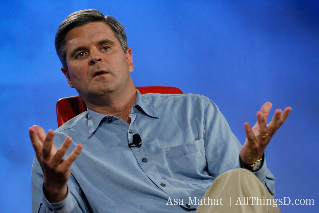 Steve Case talks about his new project, Revolution, while at D5.