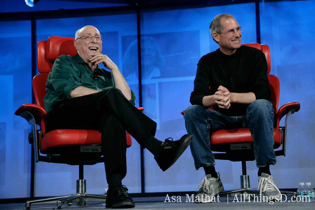 Walt and Steve enjoying their interview at D5 in 2007.