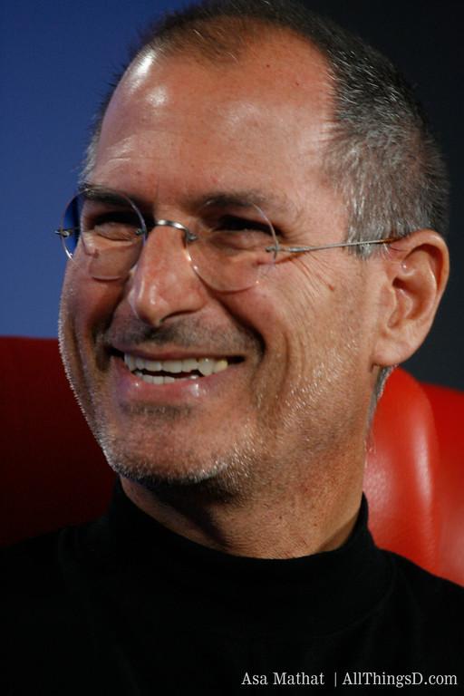 Steve Jobs onstage at D5 in 2007.