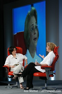Kara Swisher with Ann Moore at D5