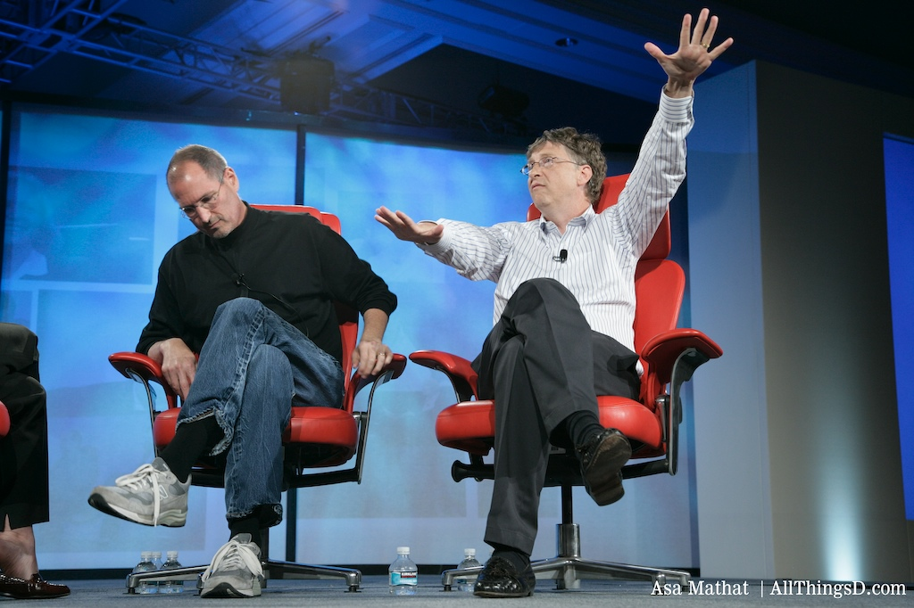 Bill Gates and Steve Jobs together again at D5