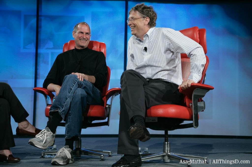 Steve Jobs and Bill Gates at D5