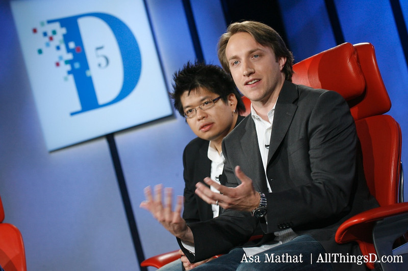 Chad Hurley and Steve Chen at D5