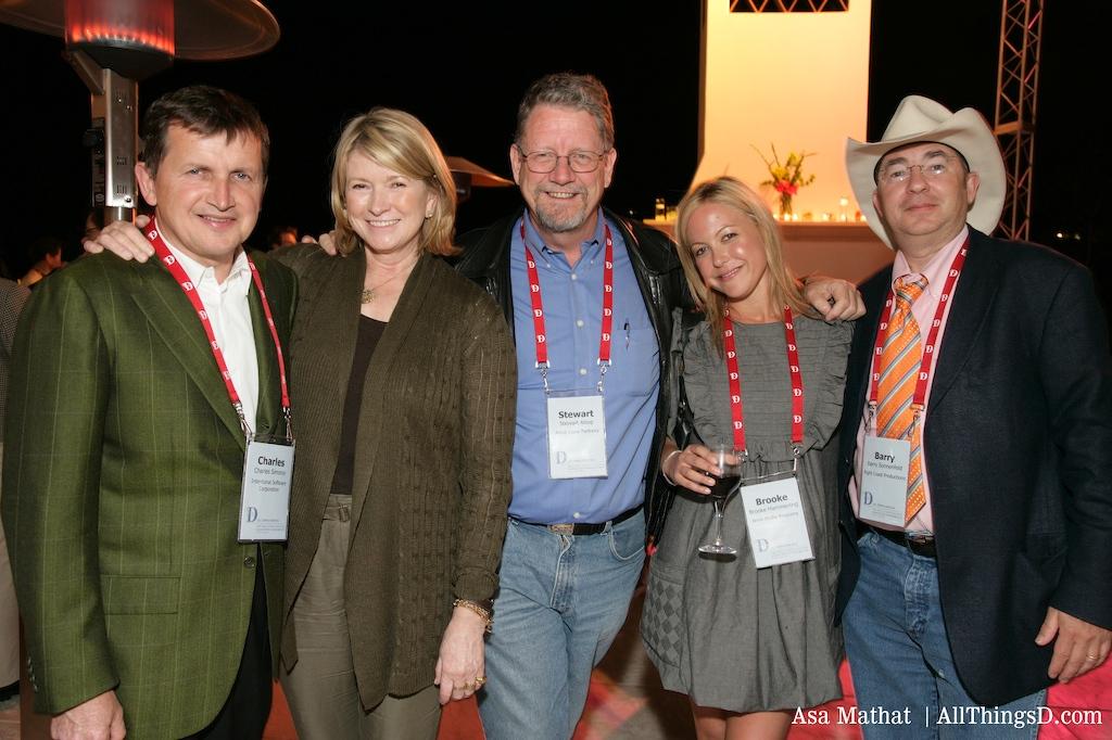 Charles Simonyi, Martha Stewart, Stewart Alsop, Brooke Hammerling and Barry Sonnenfeld
