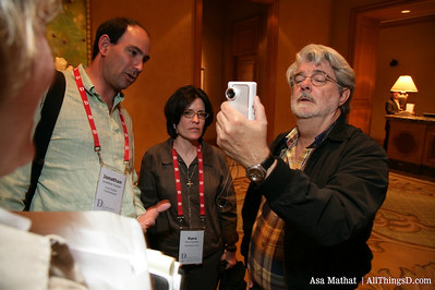 George Lucas tries out the Karacam camera