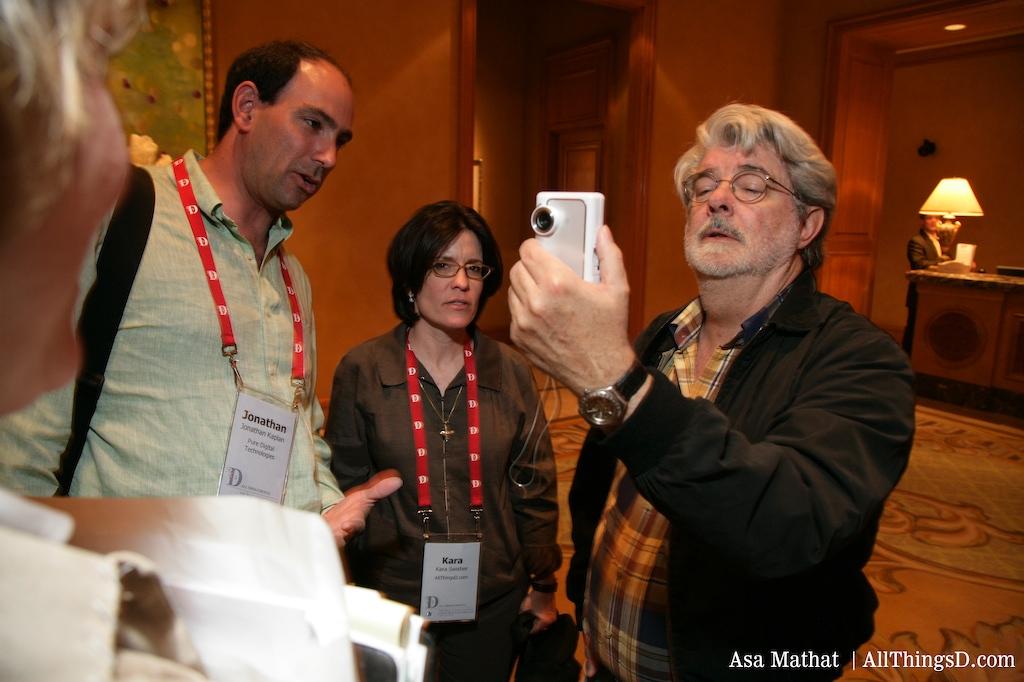 George Lucas tries out the Karacam camera