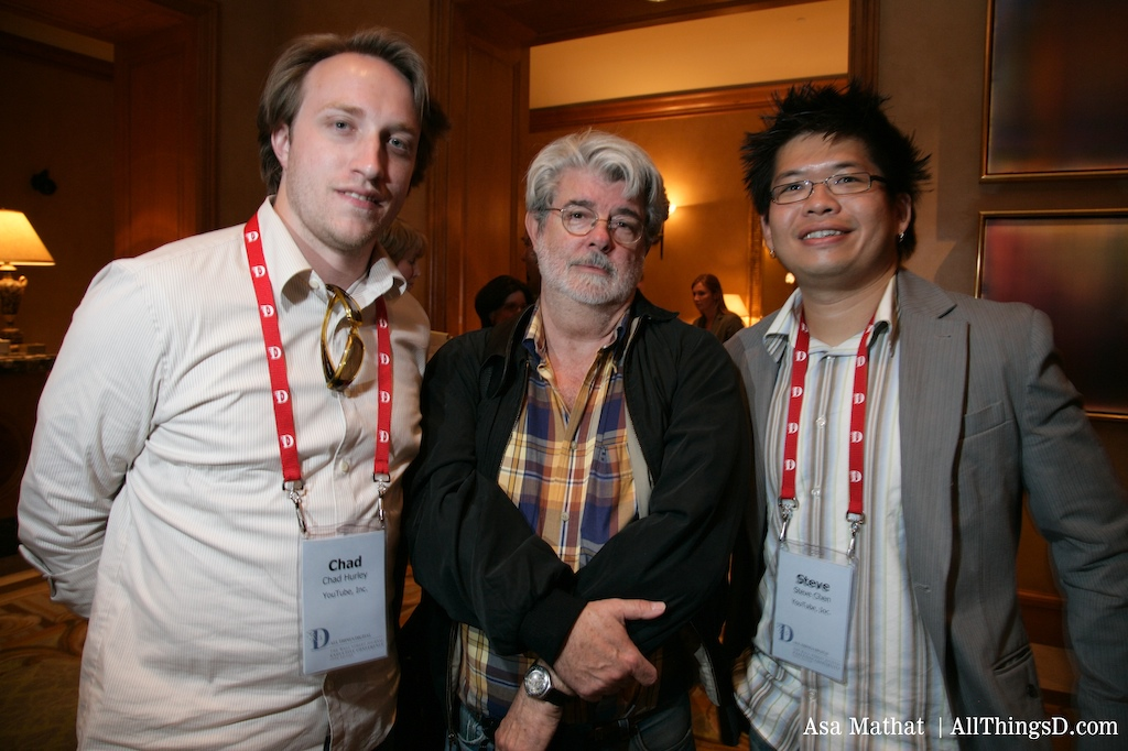 Chad Hurley, George Lucas, and Steve Chen