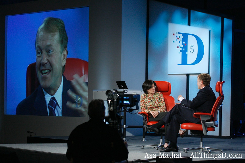John Chambers on stage at D5