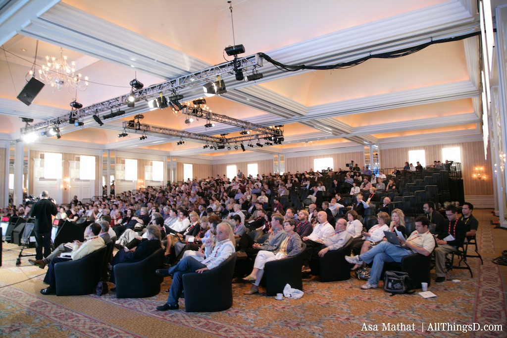 The crowd at John Chambers' session at D5