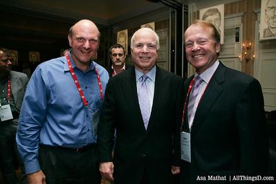 Steve Ballmer, John McCain, and John Chambers