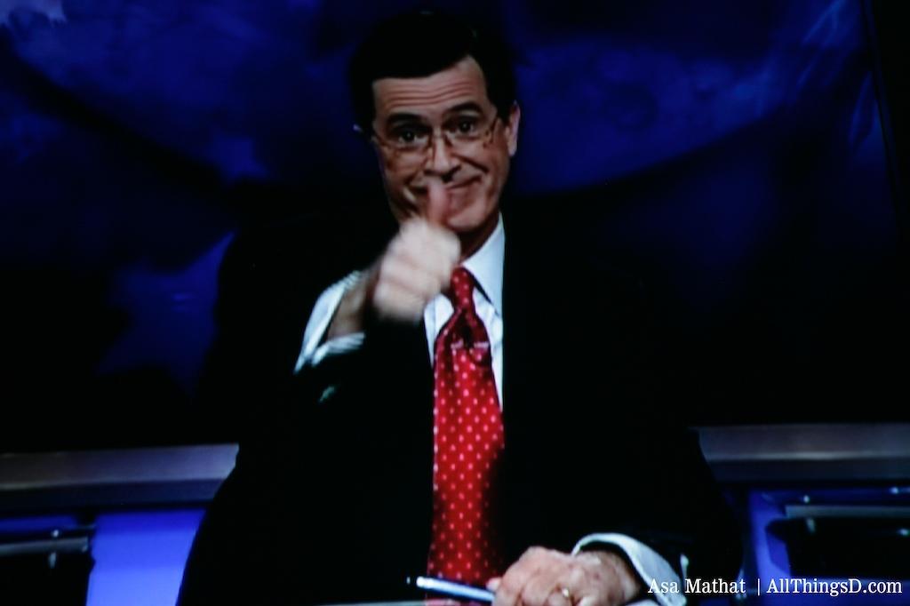 Stephen Colbert intro video for Philippe Dauman