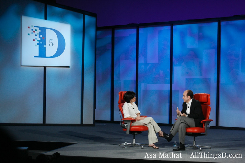 Philippe Dauman on-stage at D5