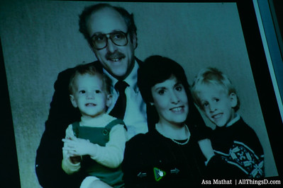 Walt Mossberg and his family back in the day