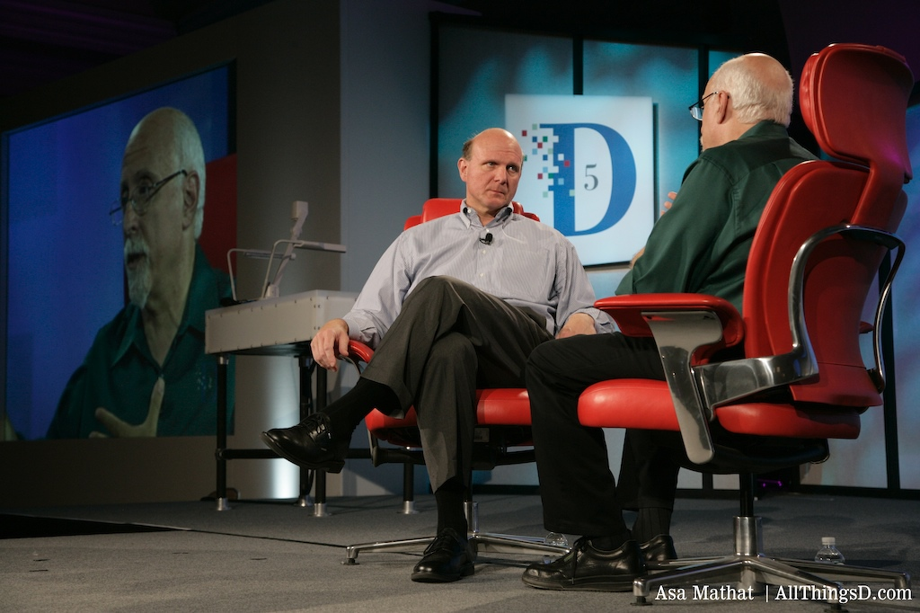 Walt Mossberg interviews Steve Ballmer at D5