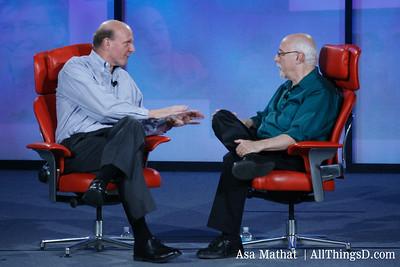 Steve Ballmer and Walt Mossberg