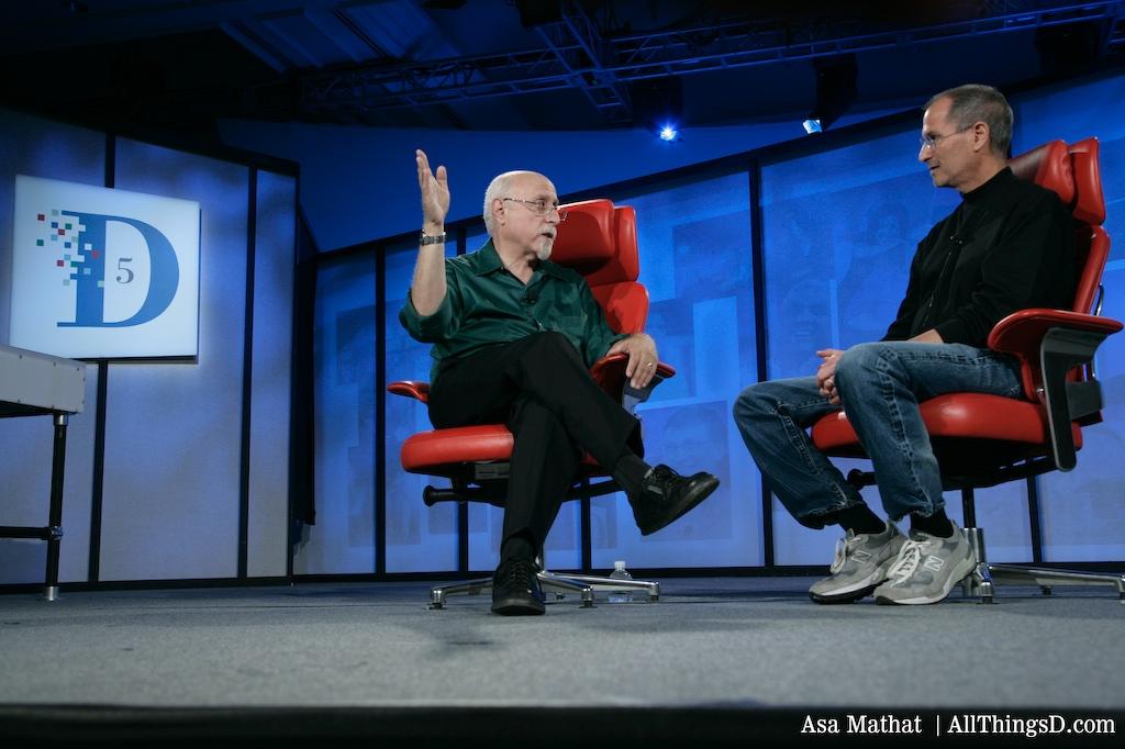 Walt Mossberg and Steve Jobs at D5