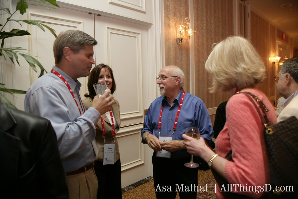 Steve Case talks with Walt Mossberg and guests at the inaugural D Conference.