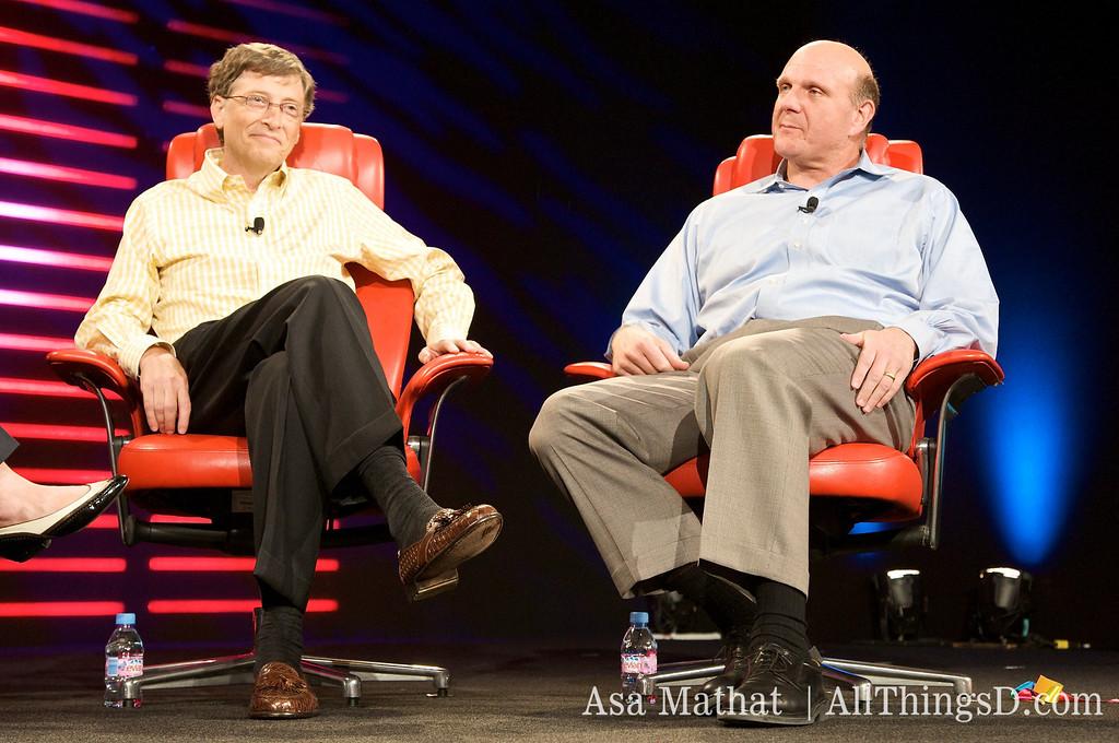 Steve Ballmer and Bill Gates at D6.
