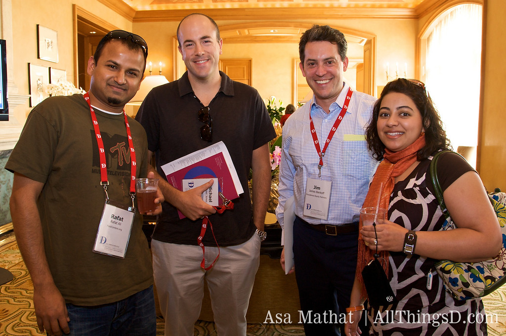 Paid Content's Rafat Ali with D6 attendees.