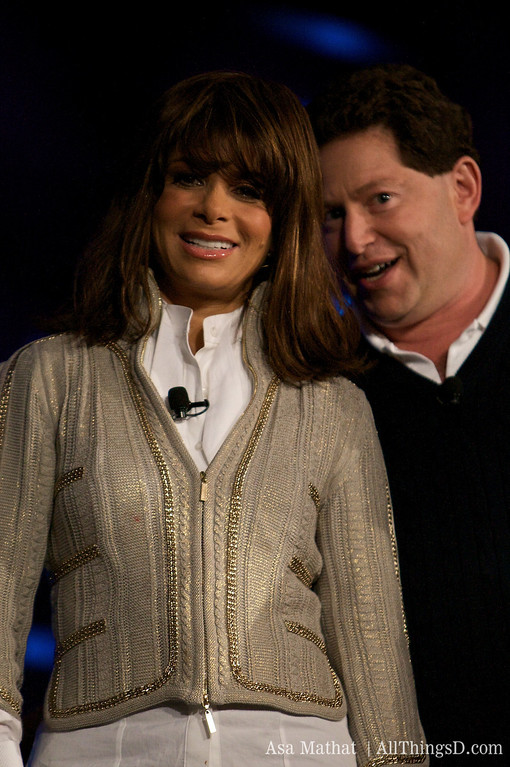Activision's Bobby Kotick with Paula Abdul.