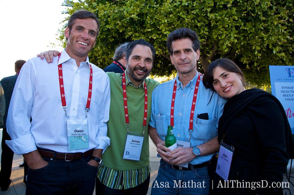 Owen Van Natta, James Joaquin, Dean Kamen and Zem Joaquin.