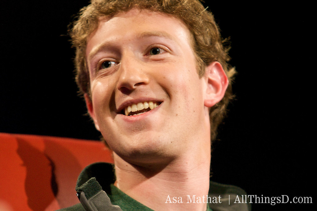 Facebook CEO Mark Zuckerberg onstage at the D5 conference in 2007.