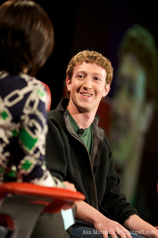 Zuckerberg onstage at D5.