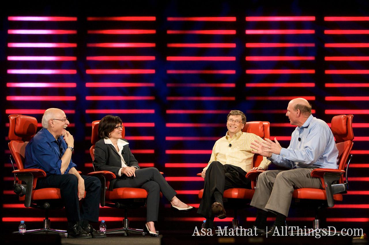 Walt Mossberg and Kara Swisher interview Bill Gates and Steve Ballmer at D6.