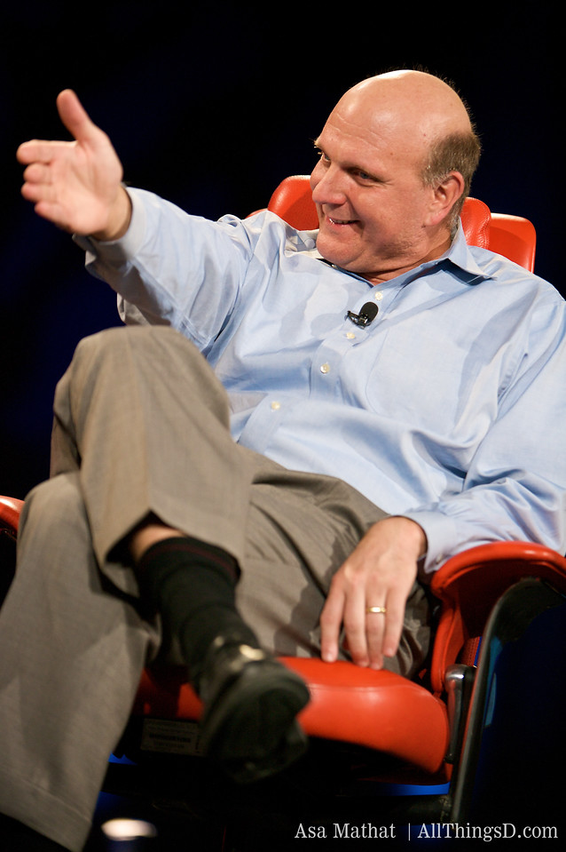 Steve Ballmer onstage at D6 in 2008.
