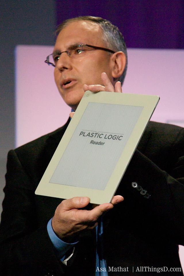 The Plastic Logic Reader.