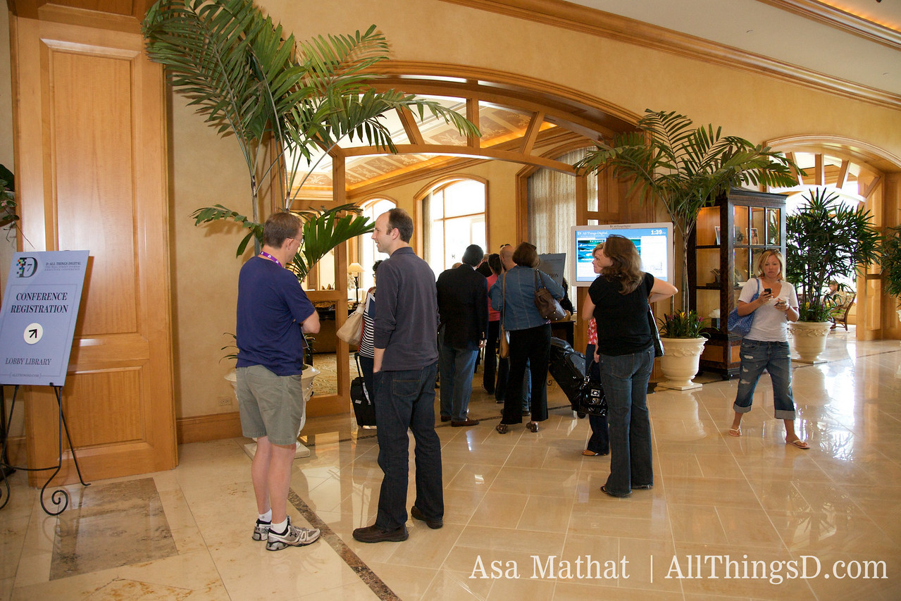 D7 Conference registration at the Four Seasons Aviara in Carlsbad, California.
