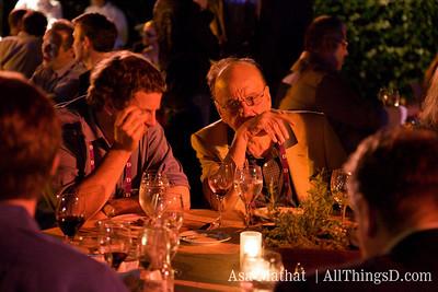 Rupert Murdoch during dinner at D7.