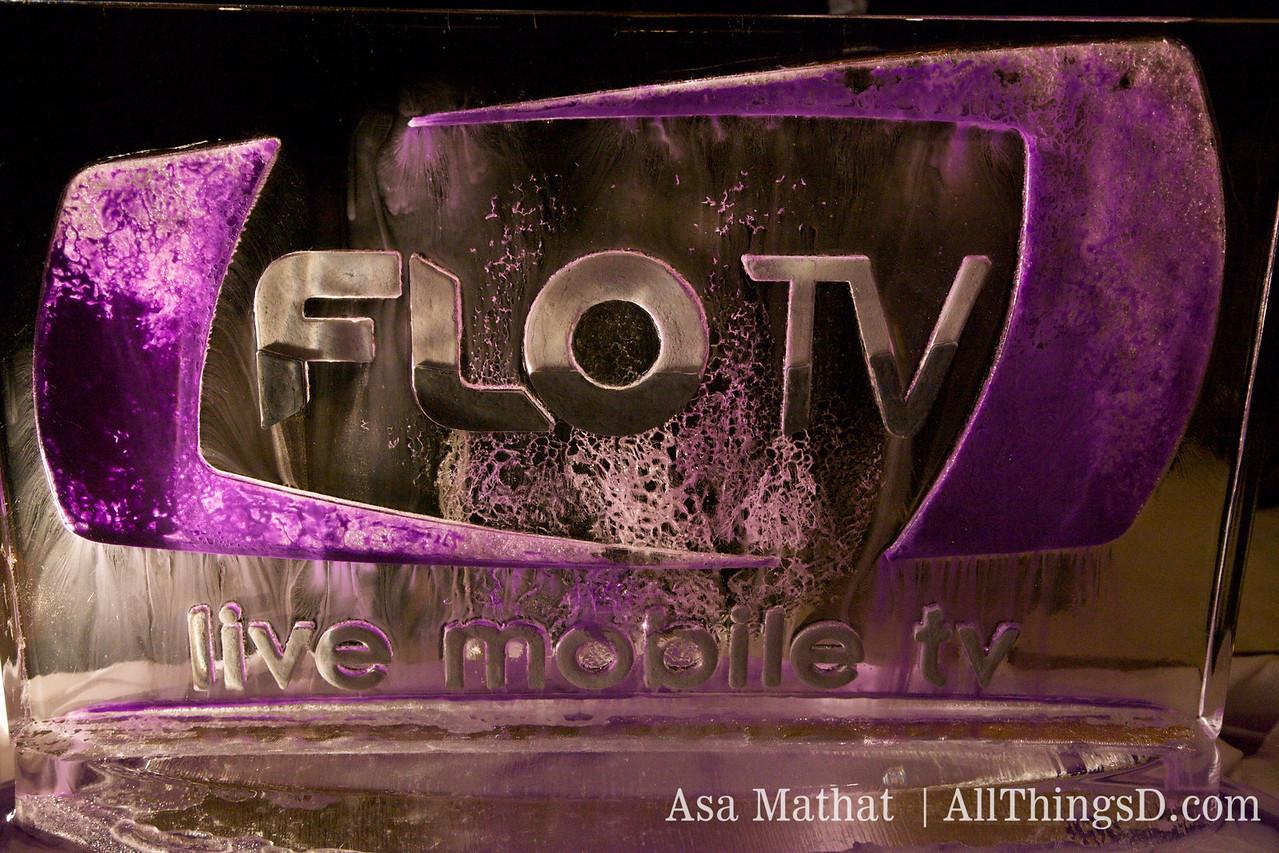 Flo TV ice sculpture.