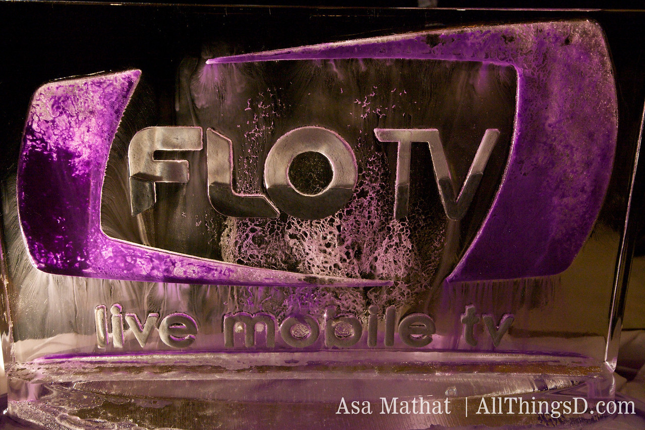 Flo TV ice sculpture.