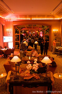 The Nightcap Gathering was held in the lobby of the Four Seasons.