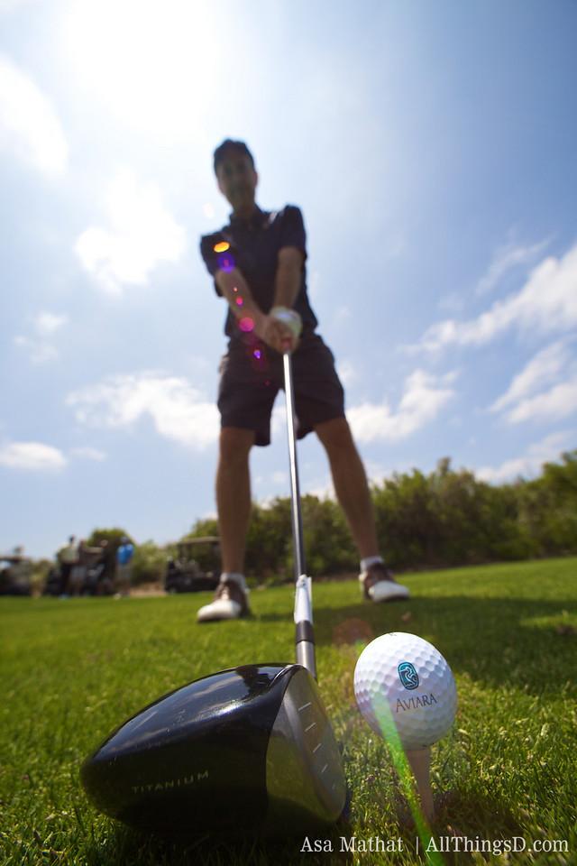 Titanium club meets Aviara golf ball.