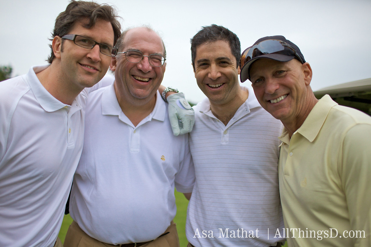 Group of happy golfers.