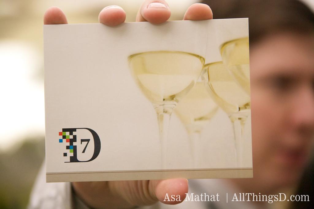 D7 Wine Reception card.