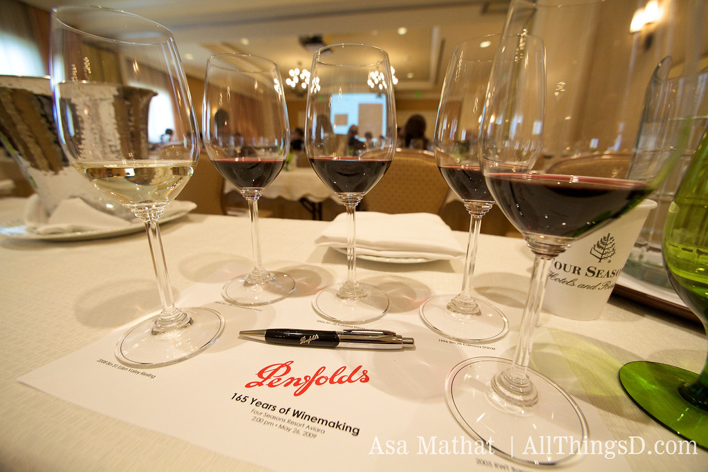 Among the Penfold varieties were several kinds of Shiraz and a Riesling.
