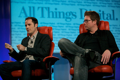Twitter founders Evan Williams and Biz Stone kick off the first evening of D7.