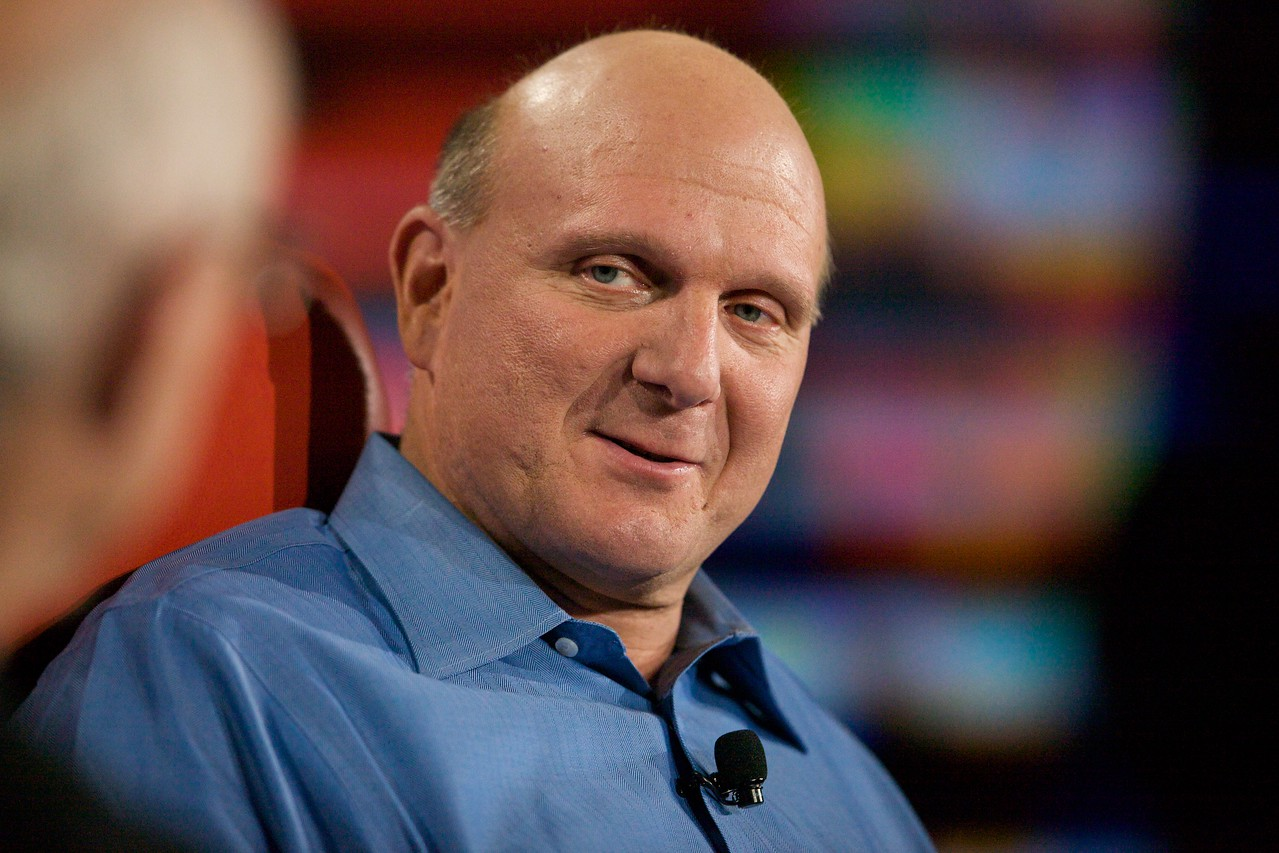 Steve Ballmer, CEO of Microsoft, onstage at D7.