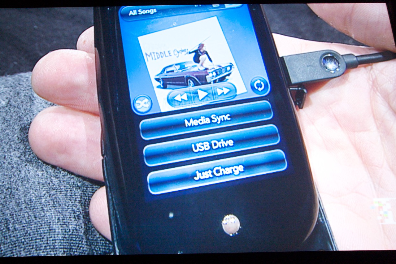 The Palm Pre can function as a USB drive.