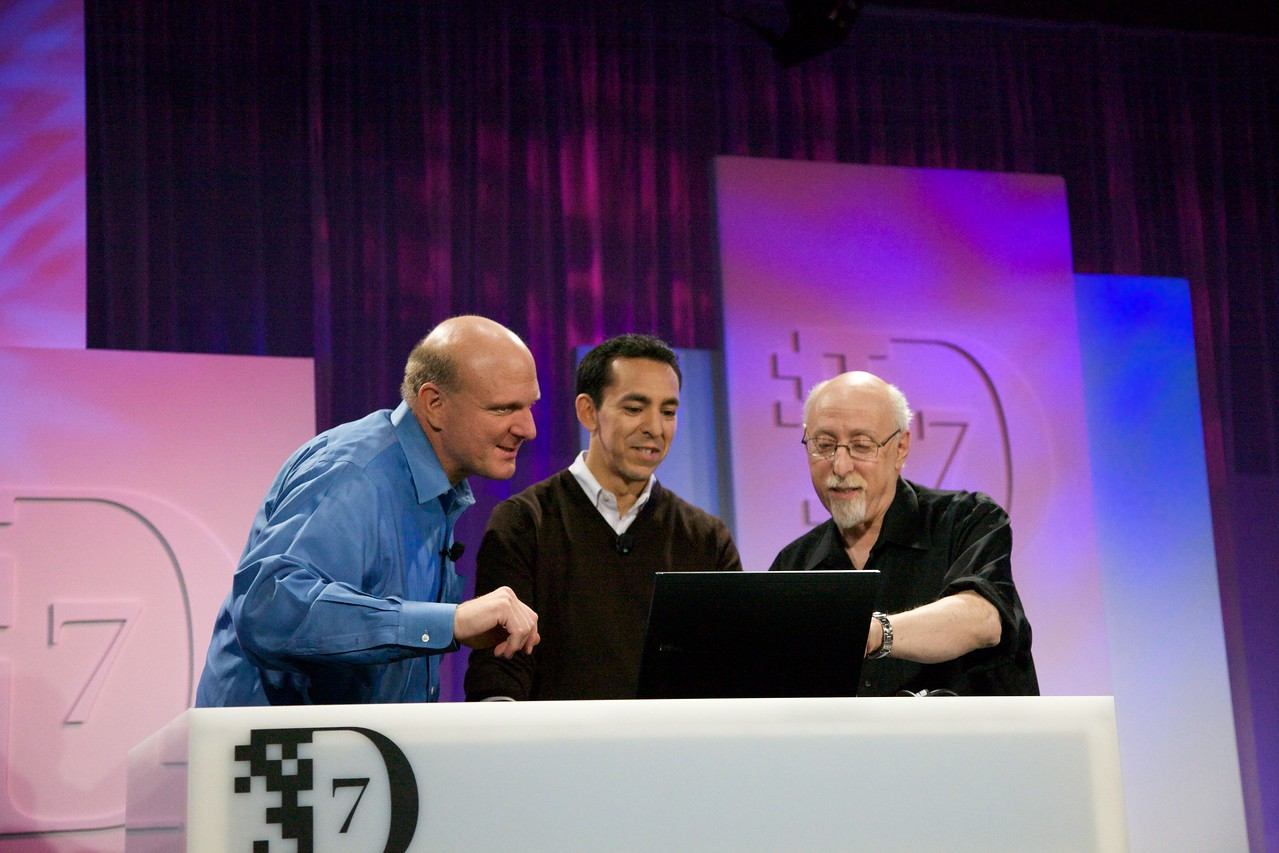 Microsoft CEO Steve Ballmer and Yusuf Mehdi, SVP for the Online Audience Business Group, demo the Bing search engine.
