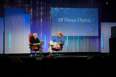 Walt Mossberg interviews Microsoft CEO Steve Ballmer at the D7 conference.