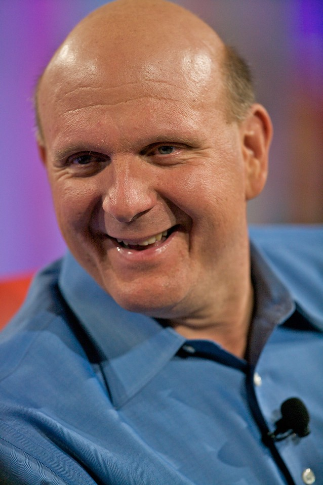 Steve Ballmer, live and onstage at the D conference.